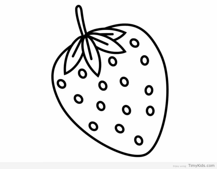 921x720 Strawberry Coloring Page Strawberry Plant Coloring Page