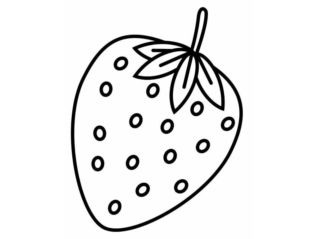 1024x768 Strawberry Coloring Pages Free Free Coloring Sheets