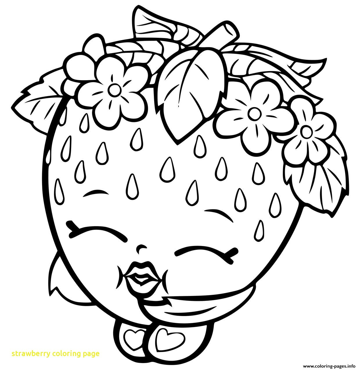 1240x1274 Strawberry Coloring Pages Free For Alluring Colouring Page