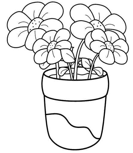 445x512 Plant Coloring Pages For Preschoolers Strawberry Plant Coloring