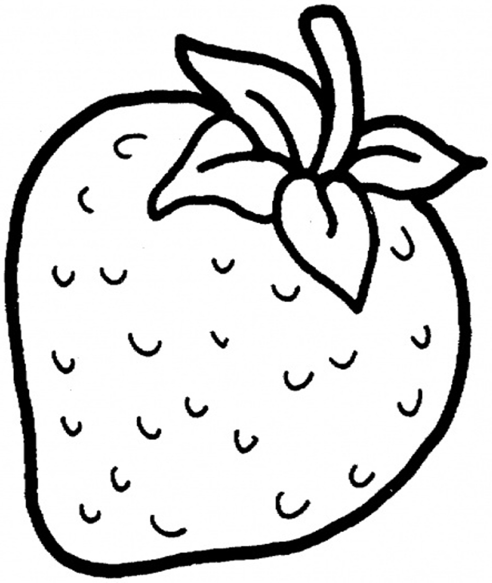 1000x1185 Sweet Strawberry Fruit Fruits Coloring Pages Kids Net