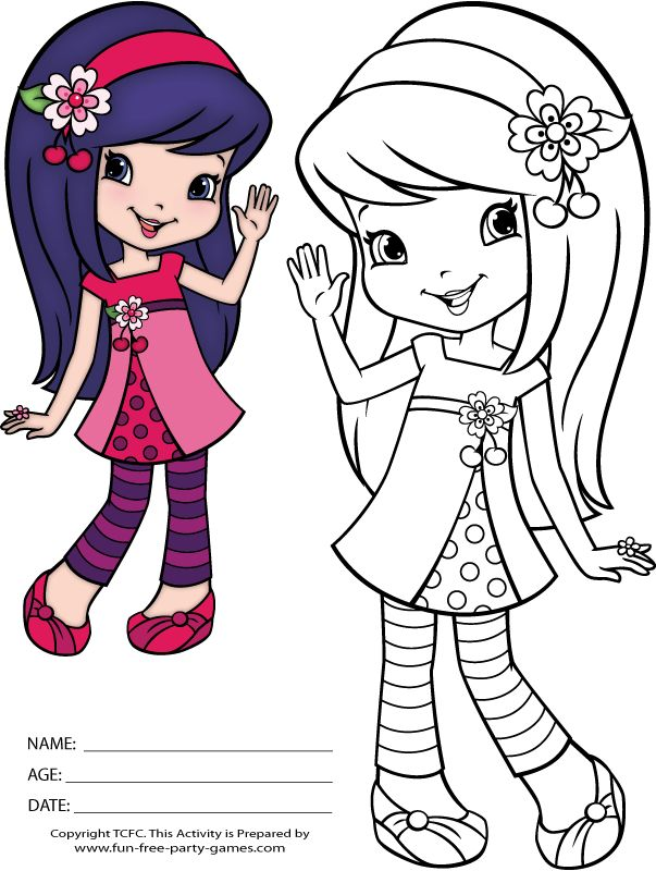 Strawberry Shortcake And Friends Coloring Pages