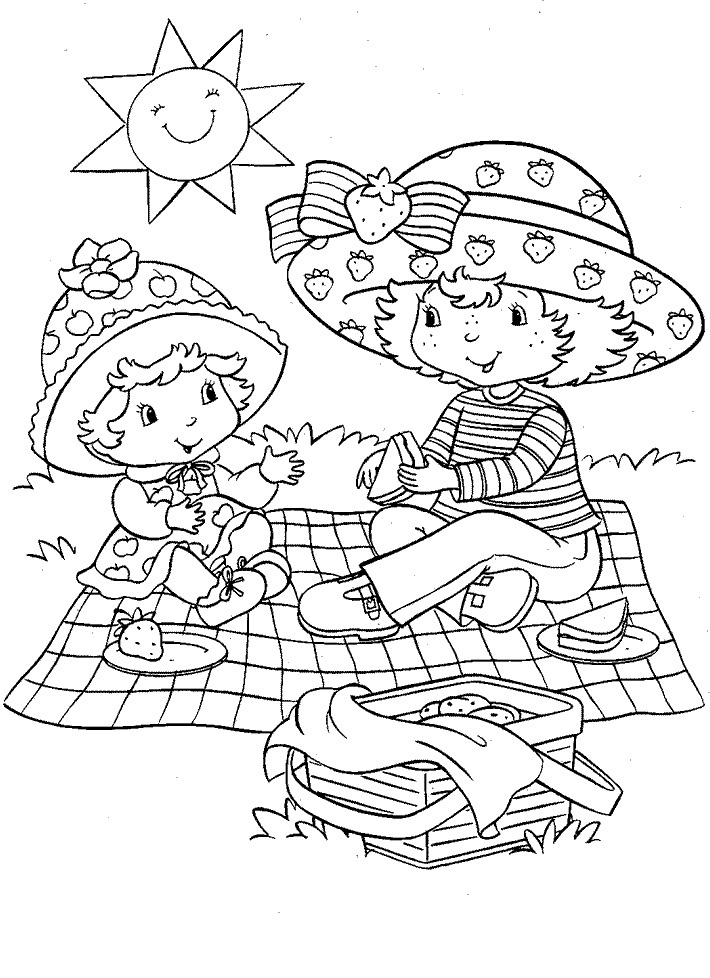 710x978 Free Printable Strawberry Shortcake Coloring Pages For Kids