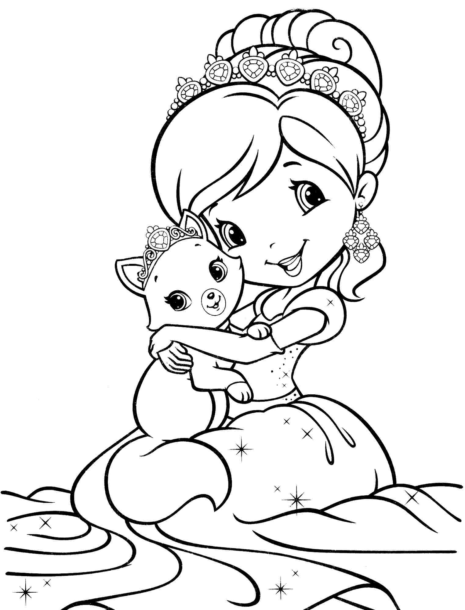 1523x2000 Strawberry Shortcake And All Friends Coloring Pages