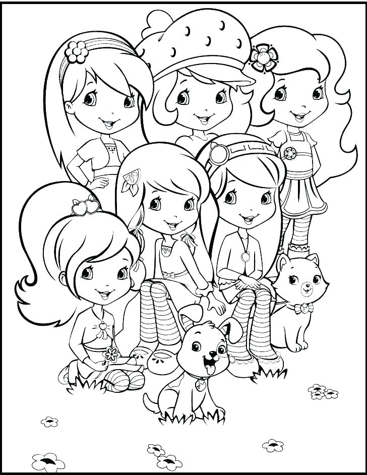 728x942 Coloring Pages Of Strawberry Shortcake Strawberry Shortcake