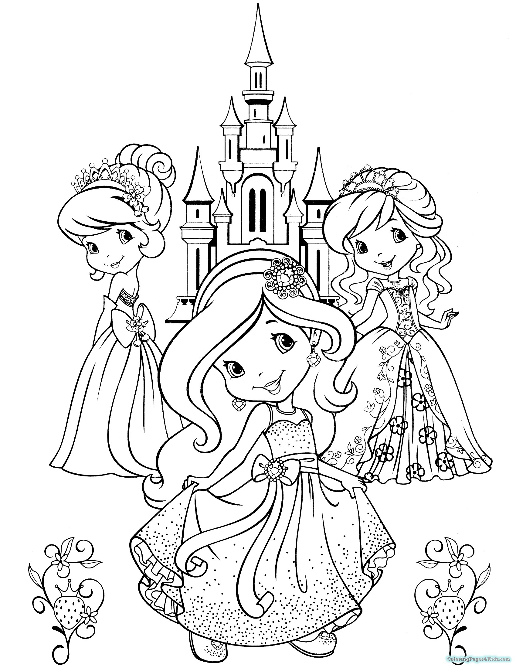 1700x2200 Strawberry Shortcake And All Friends Coloring Pages Coloring