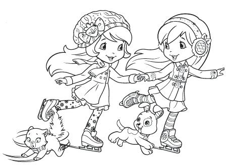 450x334 Strawberry Shortcake And Friends Coloring Pages Activities Archive