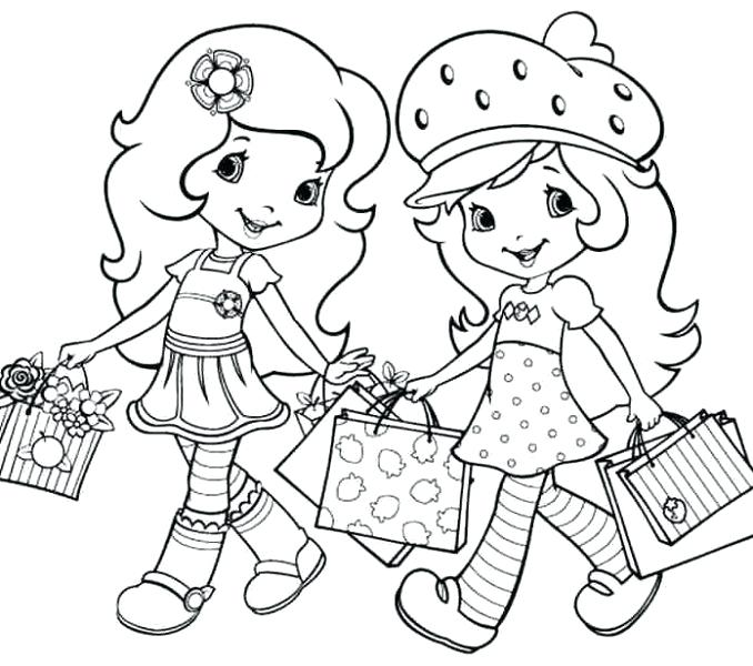 678x600 Strawberry Shortcake And Friends Coloring Pages Friendship