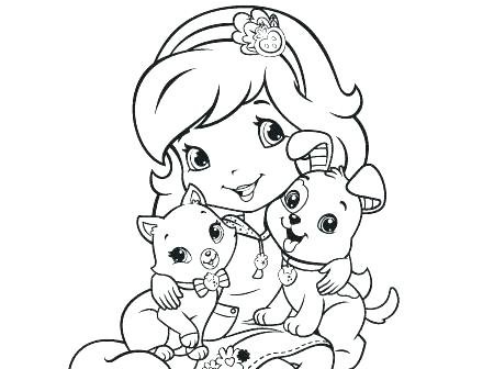 450x336 Strawberry Shortcake And Friends Coloring Pages To Print