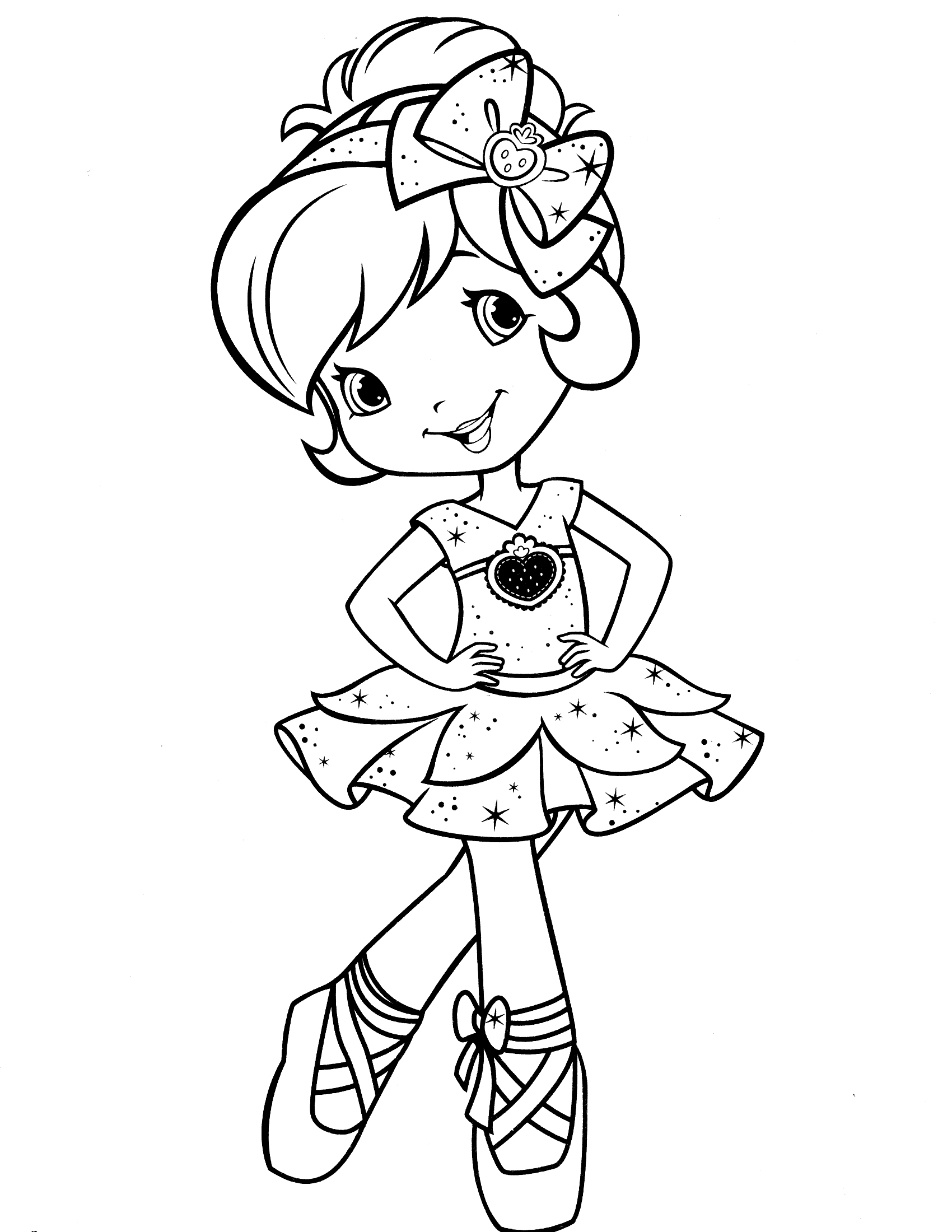 1700x2200 Strawberry Shortcake And Friends Coloring Pages Allmadecine
