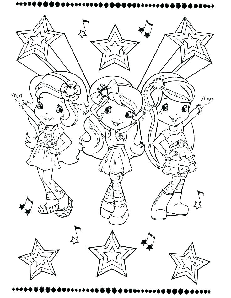 736x952 Strawberry Shortcake And Friends Colouring Pages Coloring Pages