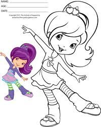 200x252 Strawberry Shortcake And Friends Coloring Pages To Print