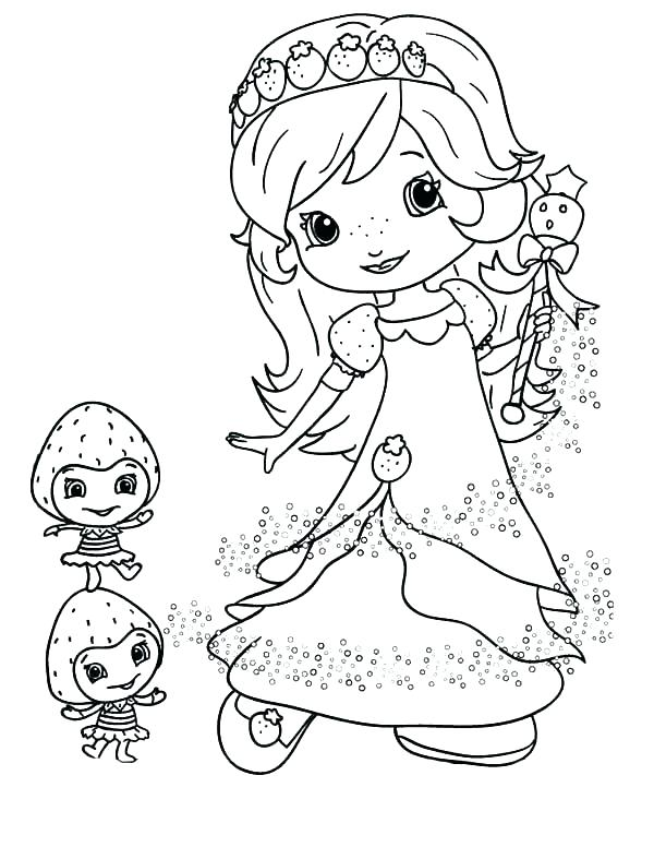 600x776 Strawberry Shortcake Coloring Pages