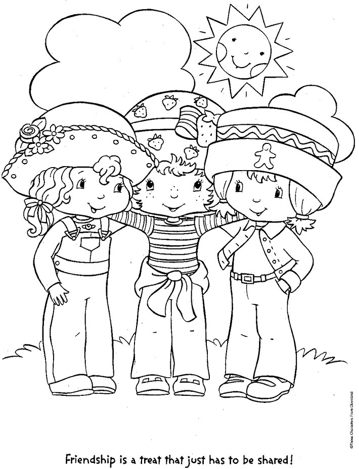 710x929 Coloring Page Strawberry Shortcake And Friends