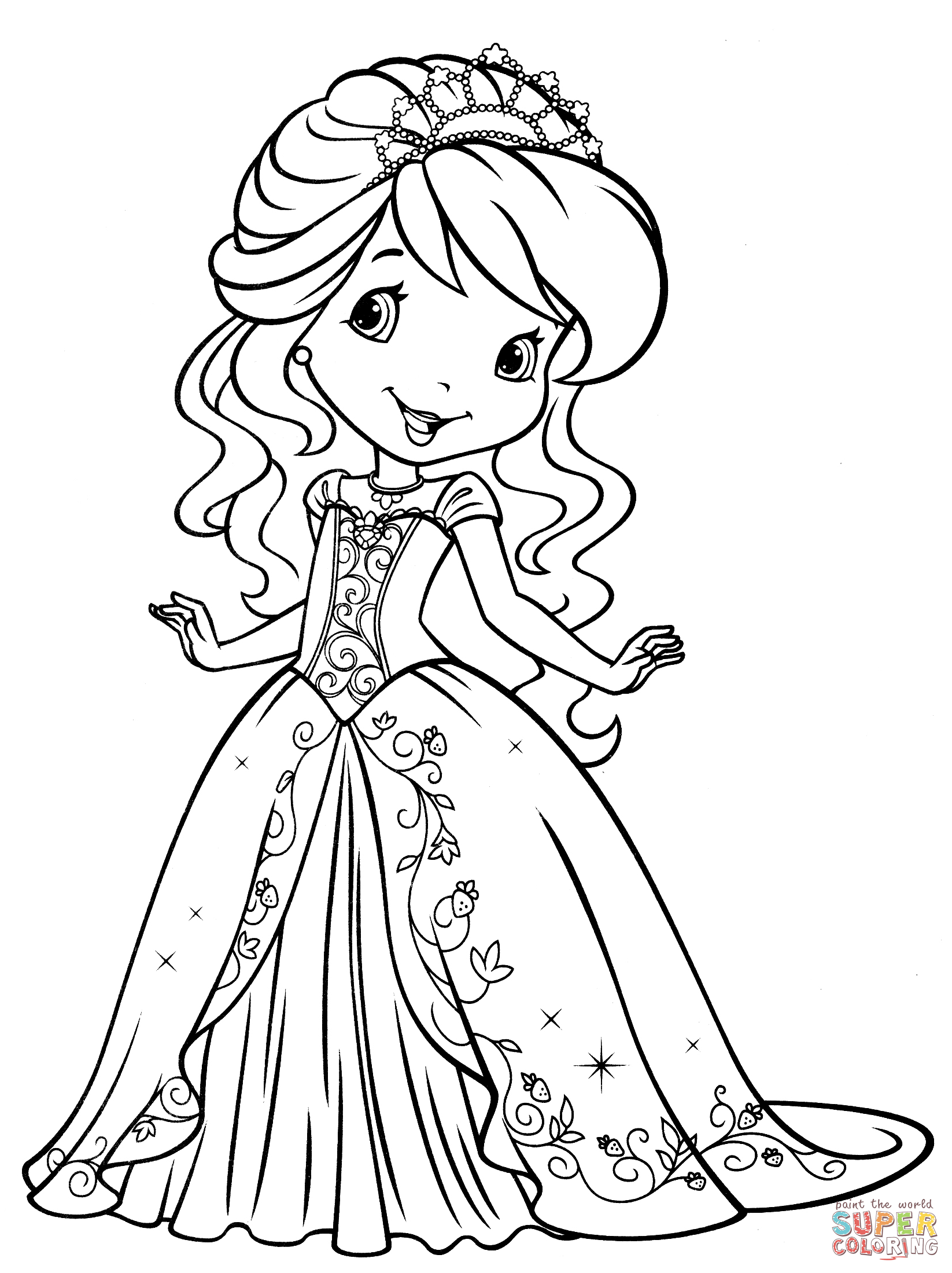 1646x2200 Endorsed Coloring Pages Of Strawberry Shortcake And Friends Free