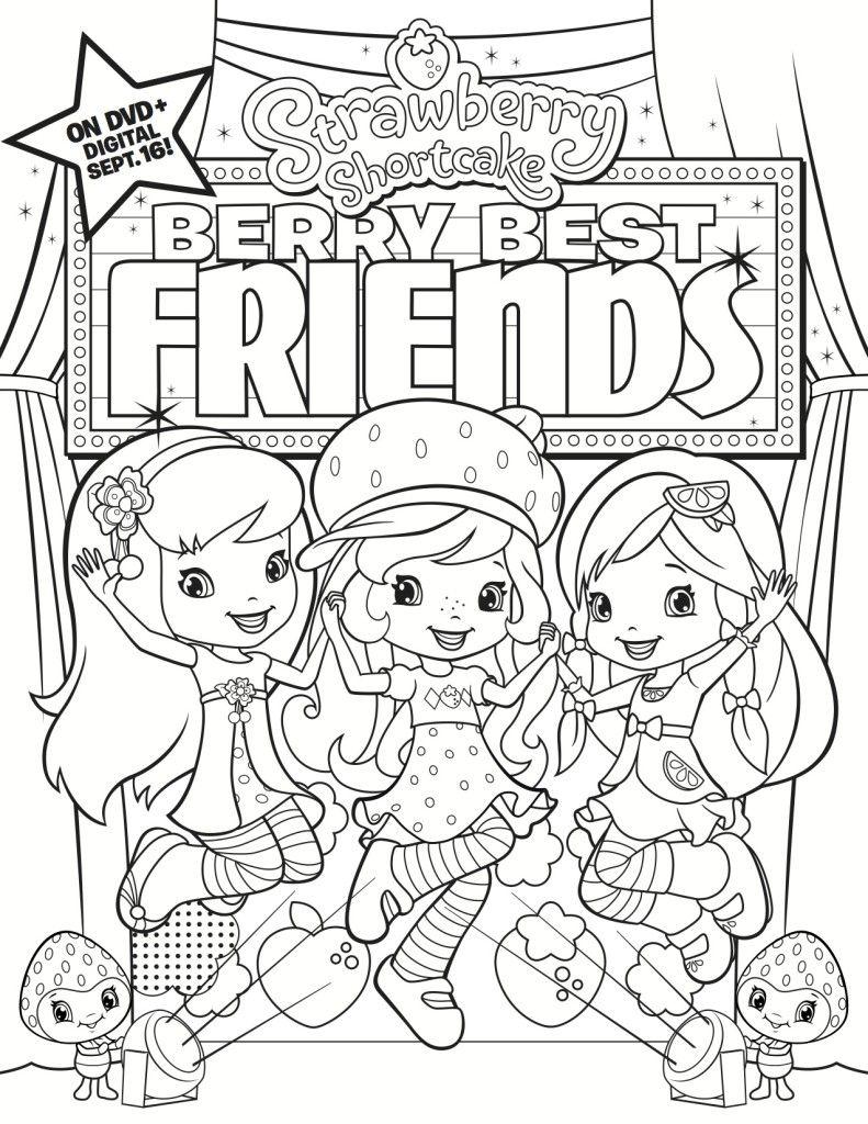 791x1024 Free Printable Strawberry Shortcake Coloring Page Free Printable