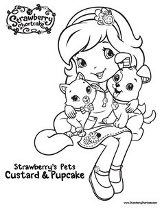 Strawberry Shortcake Birthday Coloring Pages