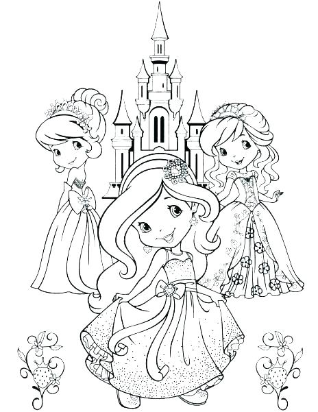 464x601 Strawberry Shortcake Coloring Pages Young Strawberry Strawberry
