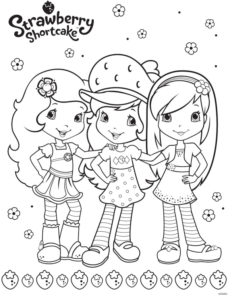 794x1024 Strawberry Coloring Pages Strawberry Shortcake Characters Coloring