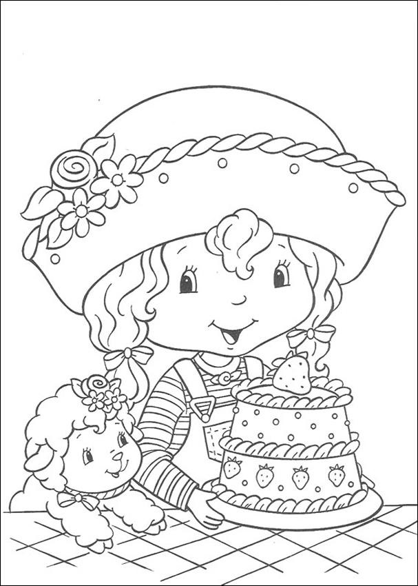 607x850 Strawberry Shortcake Characters Coloring Pages
