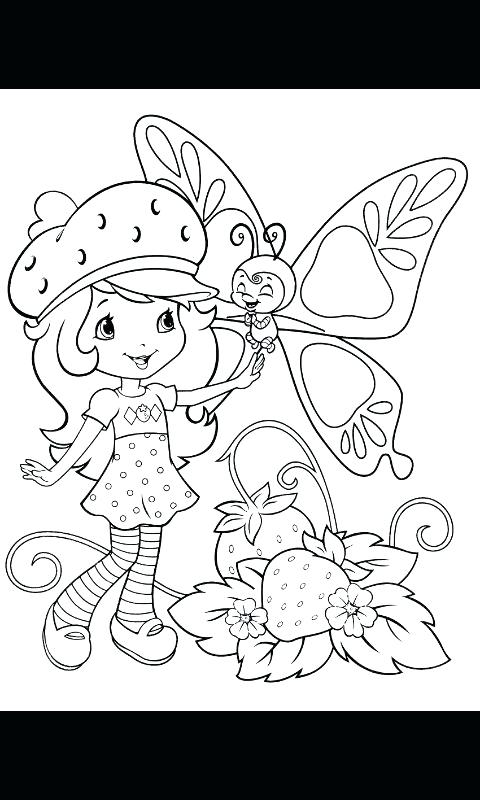 480x800 Strawberry Shortcake Characters Coloring Pages Coloring Strawberry