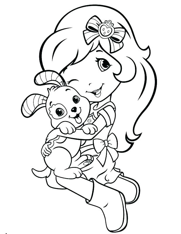 618x800 Strawberry Shortcake Characters Coloring Pages Free Colouring