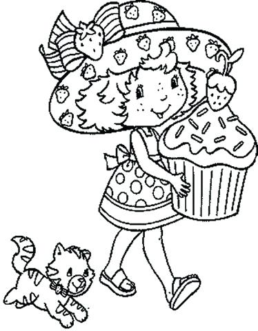 374x480 Strawberry Shortcake Characters Coloring Sheets Pages Stamps