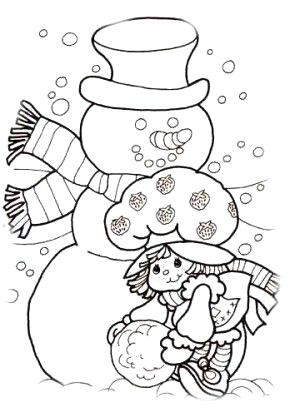 300x417 Strawberry Shortcake Coloring Pages For Christmas Christmas