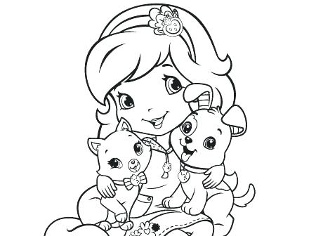 450x336 Strawberry Shortcake Coloring Pages Strawberry Shortcake