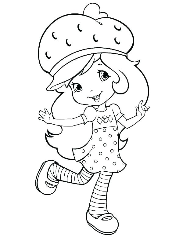 600x776 Strawberry Shortcake Princess Coloring Pages Strawberry Shortcake
