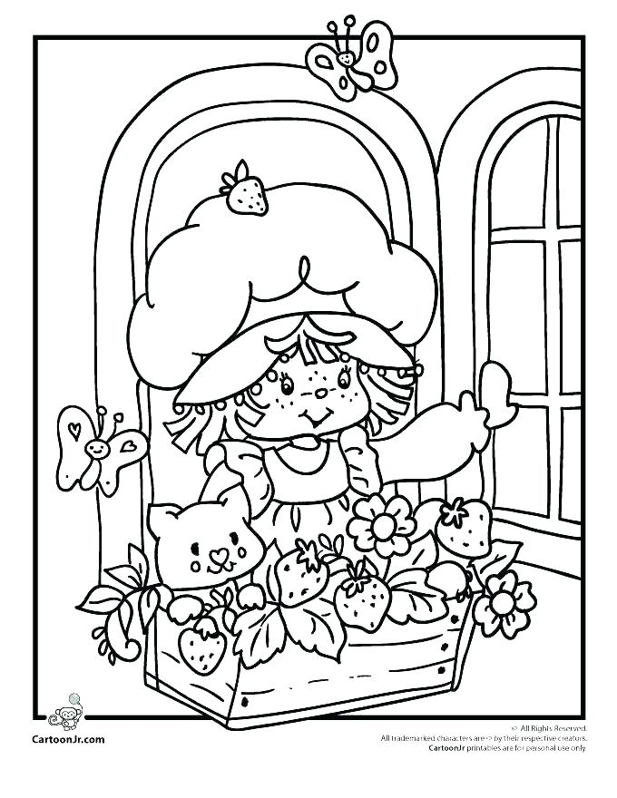680x880 Cherry Jam Coloring Also Strawberry Shortcake Coloring Sheets