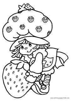 236x323 Strawberry Shortcake Color Page, Cartoon Characters Coloring Pages