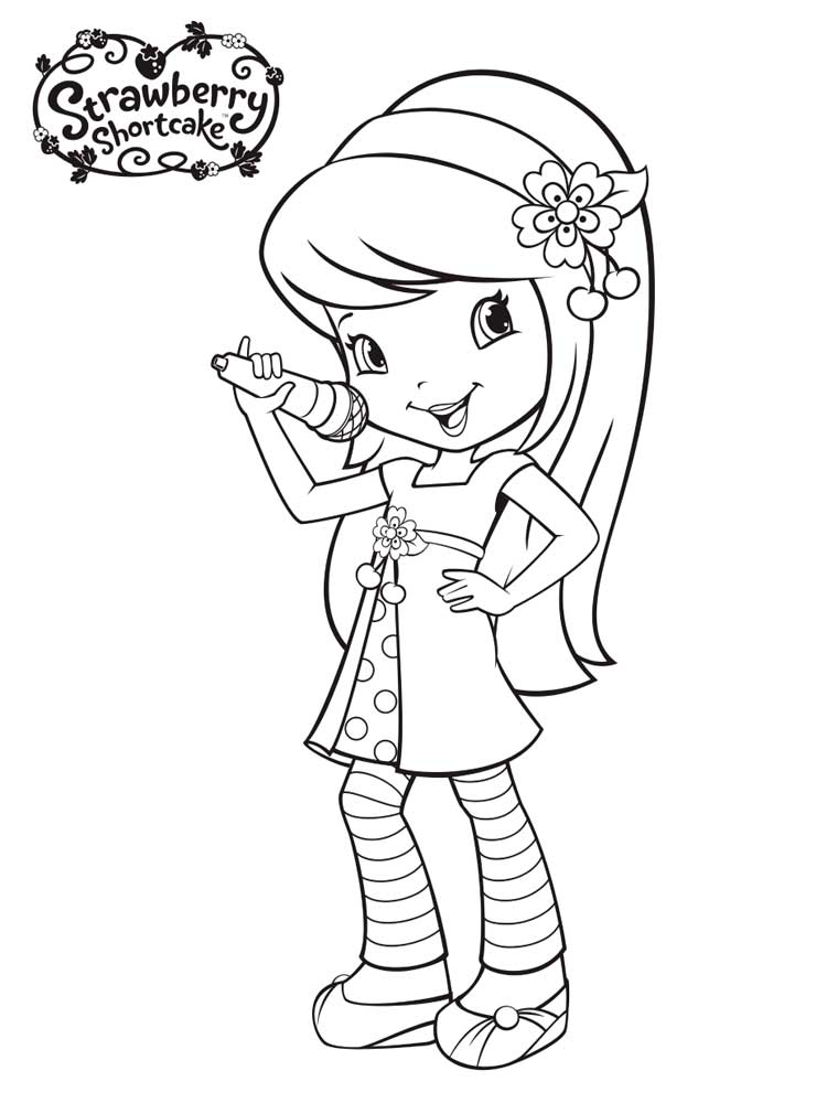 750x1000 Strawberry Shortcake Coloring Pages Free Printable Strawberry