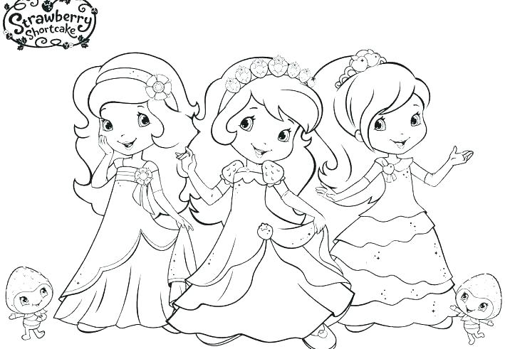 709x491 Coloring Pages Of Strawberry Shortcake And Her Friends