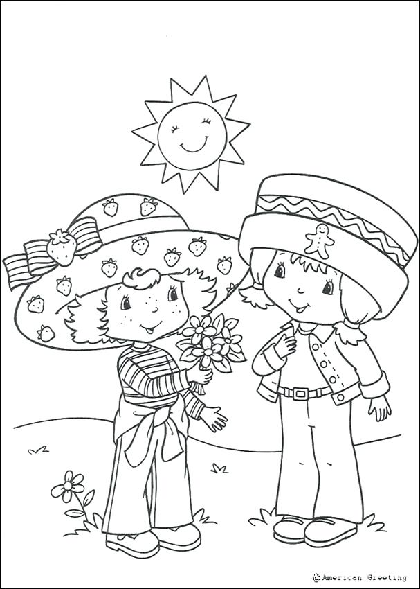 607x850 Coloring Pages Strawberry
