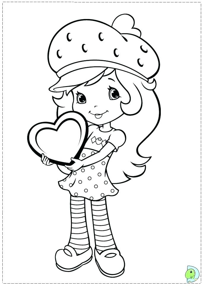 691x960 Coloring Pages Strawberry Shortcake Strawberry Shortcake