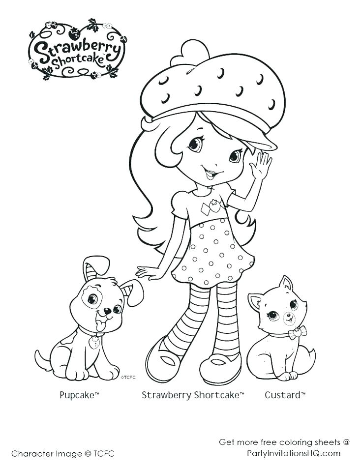 736x952 Printable Strawberry Shortcake Coloring Pages Cherry Jam Coloring