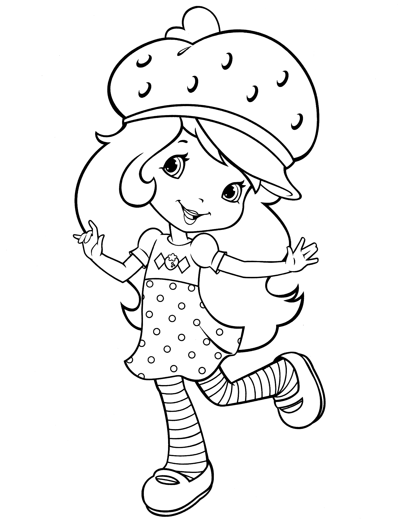 1700x2200 Strawberry Shortcake Coloring Pages Cherry Jam Coloring Page