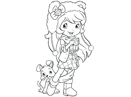 450x334 Strawberry Shortcake Coloring Pages Cherry Jam Kids Coloring