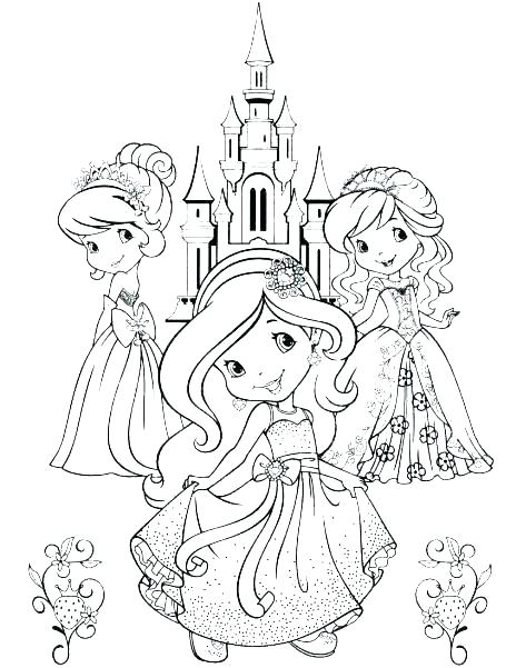 464x601 Strawberry Shortcake Coloring Pages Together With Cherry Jam