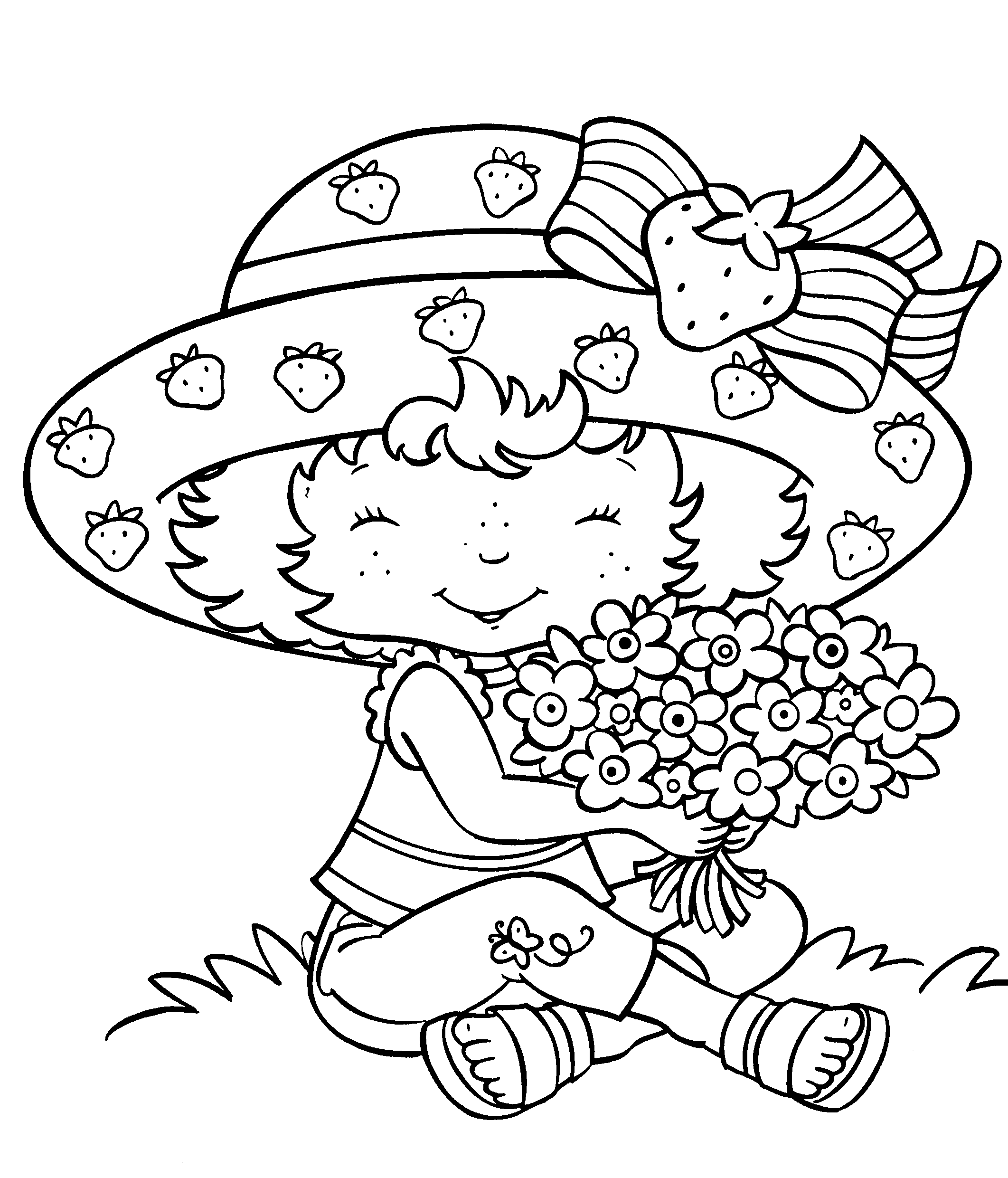 2123x2480 Strawberry Shortcake Coloring Page