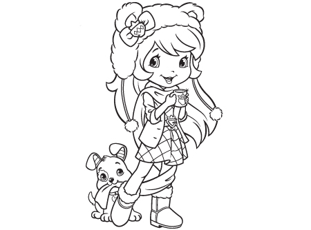 450x334 Strawberry Shortcake Coloring Pages Fabulous Strawberry Shortcake