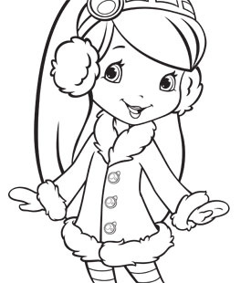 275x310 Strawberry Shortcake Coloring Pages For Christmas