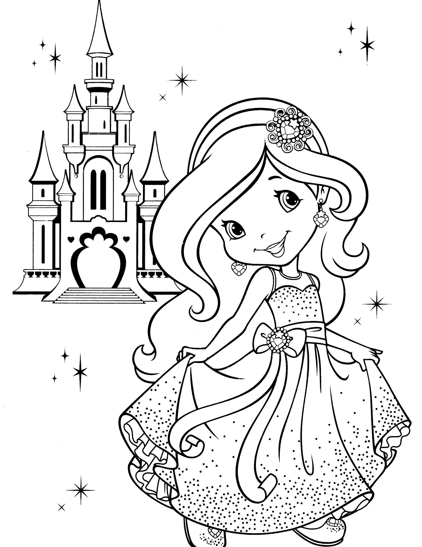 1700x2200 Strawberry Shortcake Coloring Pages With Horse Beautiful Top
