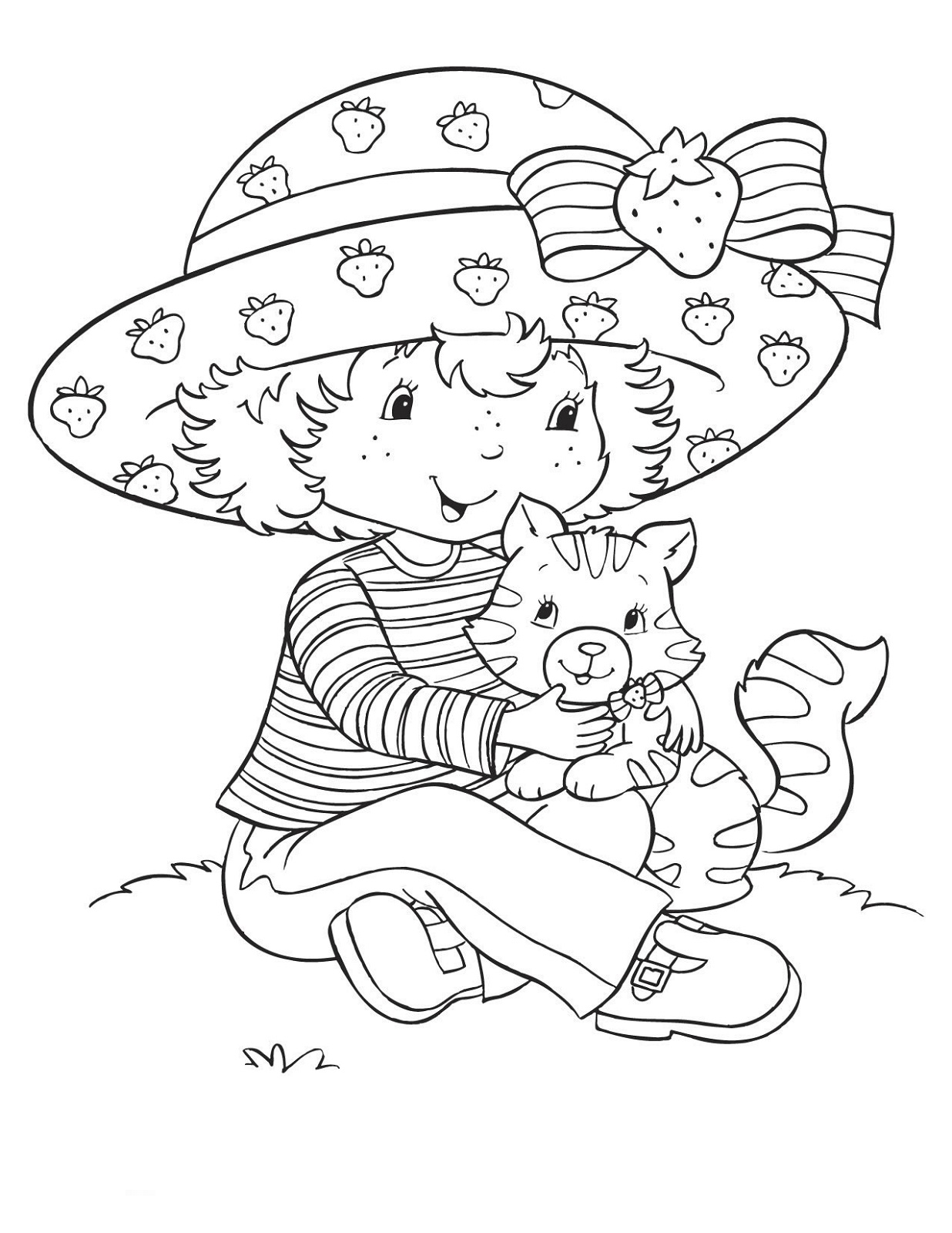 1236x1600 Strawberry Shortcake Coloring Pages For Kids Learning Printable