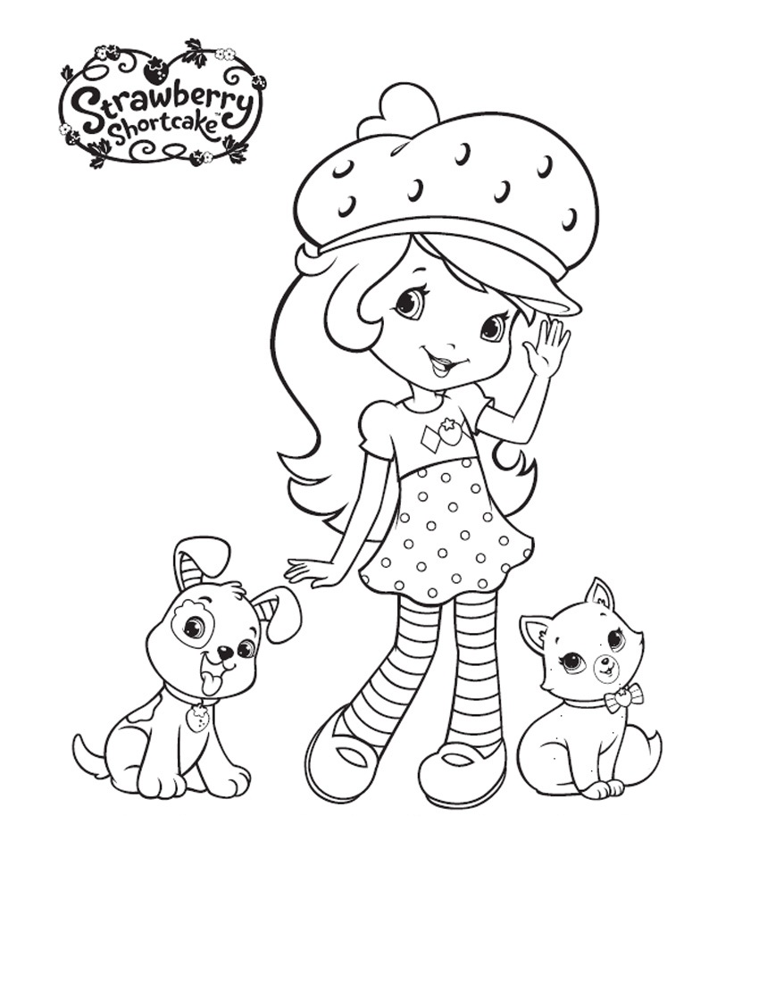 850x1100 Free Printable Strawberry Shortcake Coloring Pages For Kids
