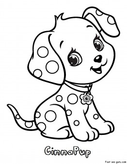 262x338 Printable Cinnapup Strawberry Shortcake Coloring Pages