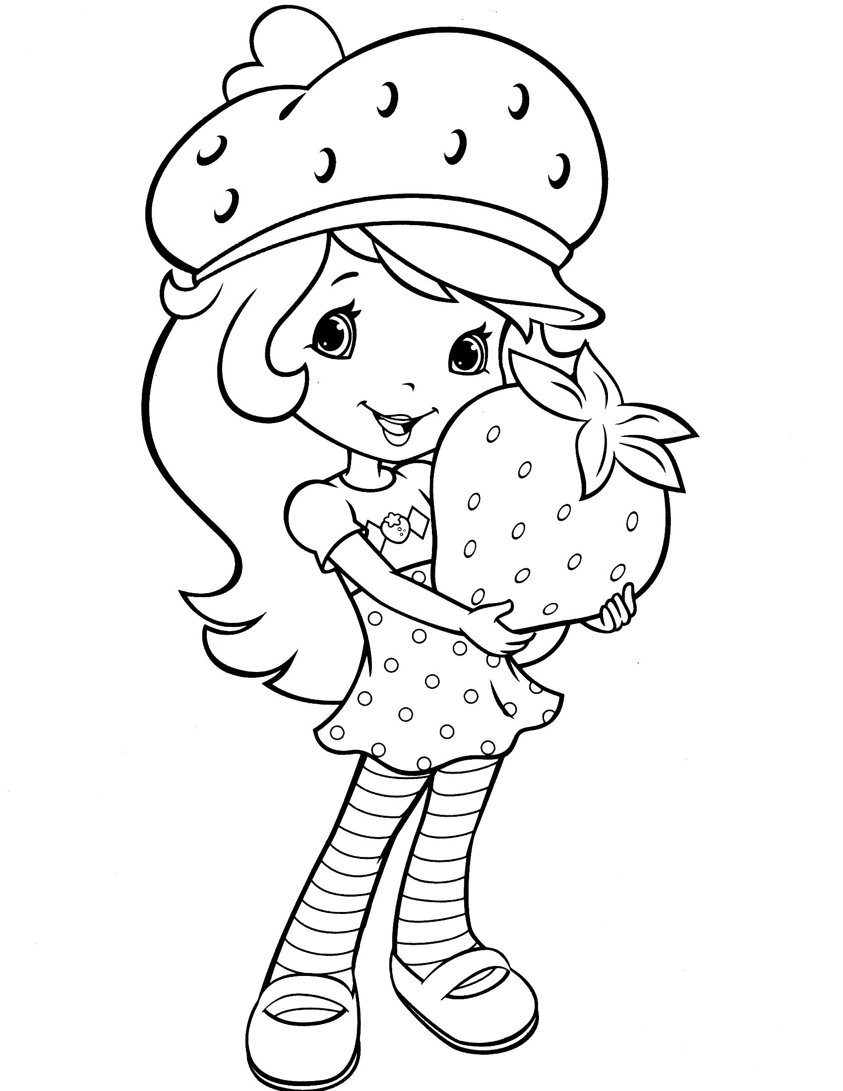 1700x2200 Strawberry Shortcake Coloring Page Emily Guerra
