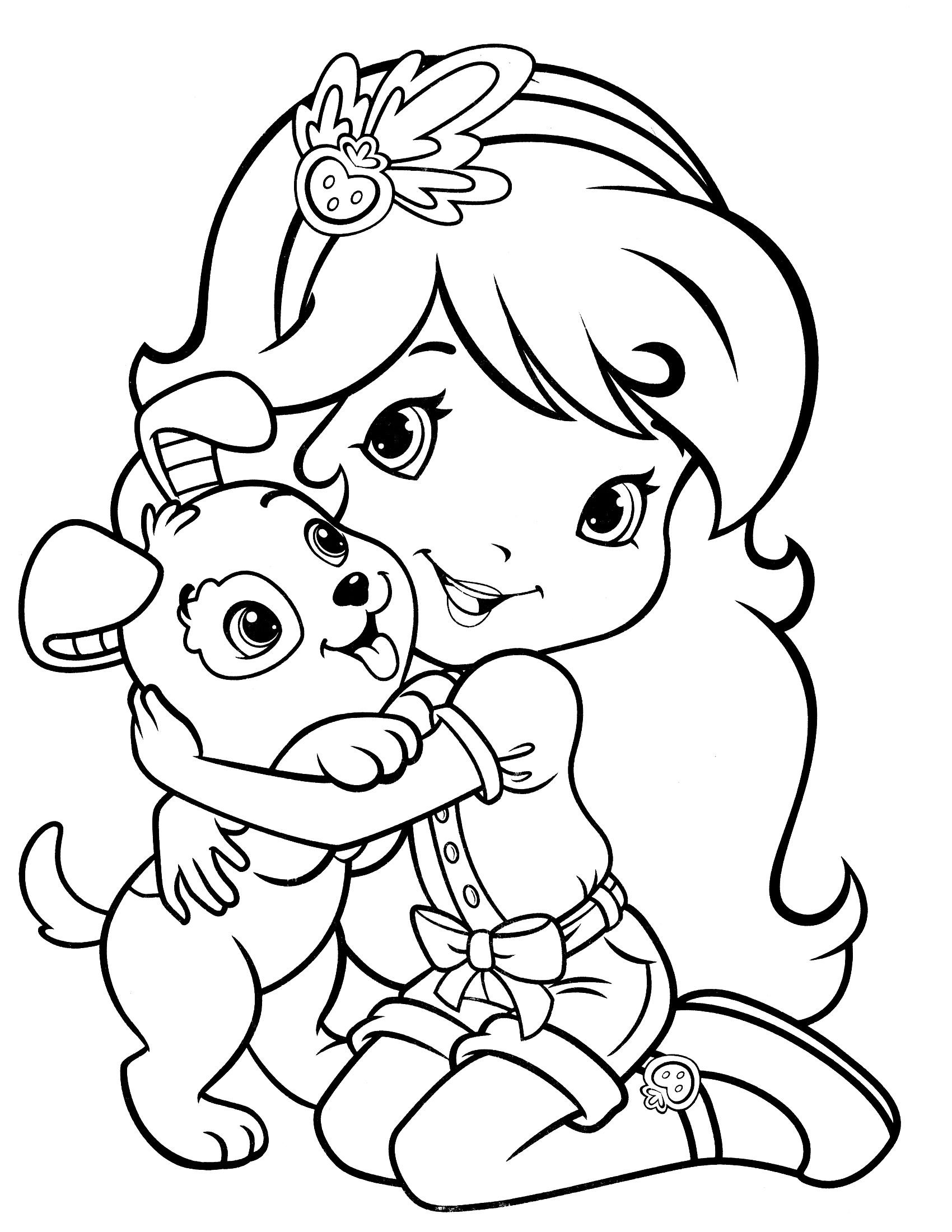 1700x2200 Strawberry Shortcake Coloring Page Coloring Strawberry