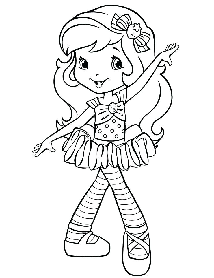 741x960 Strawberry Shortcake Coloring Pages To Print
